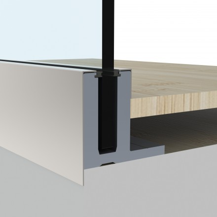 Glass balustrade fixing systems
