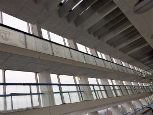 Atrium Building, East City Point - Balustrade with protection.