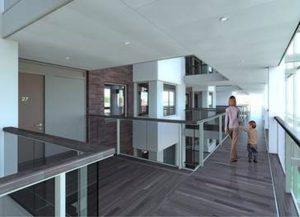 Initial concept design - atrium building, east city point