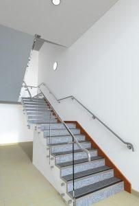 Gatwick Diamond - B40 stair balustrade - CGI