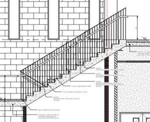 Fig 1 - Vertical bar steel balustrades
