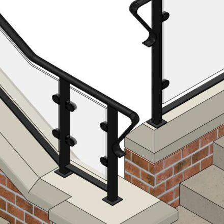 Convex Shape Handrail image